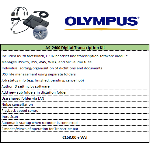 Olympus Digital Transcription